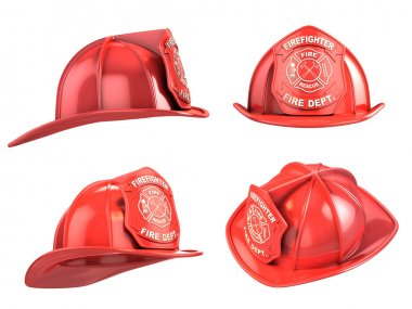 Fireman helmet from various angles