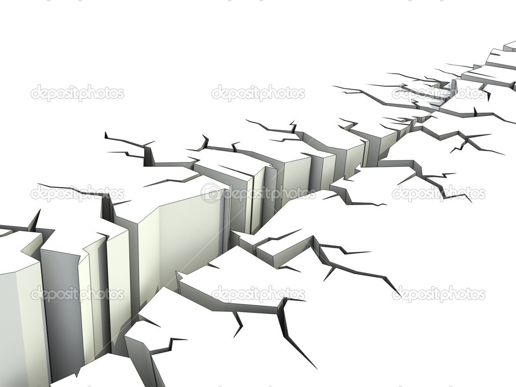 Earthquake 3d illustration