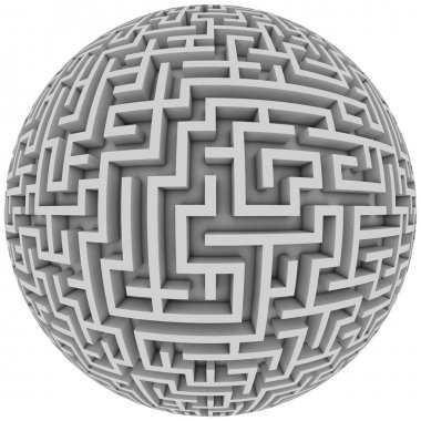 Labyrinth planet - endless maze with spherical shape