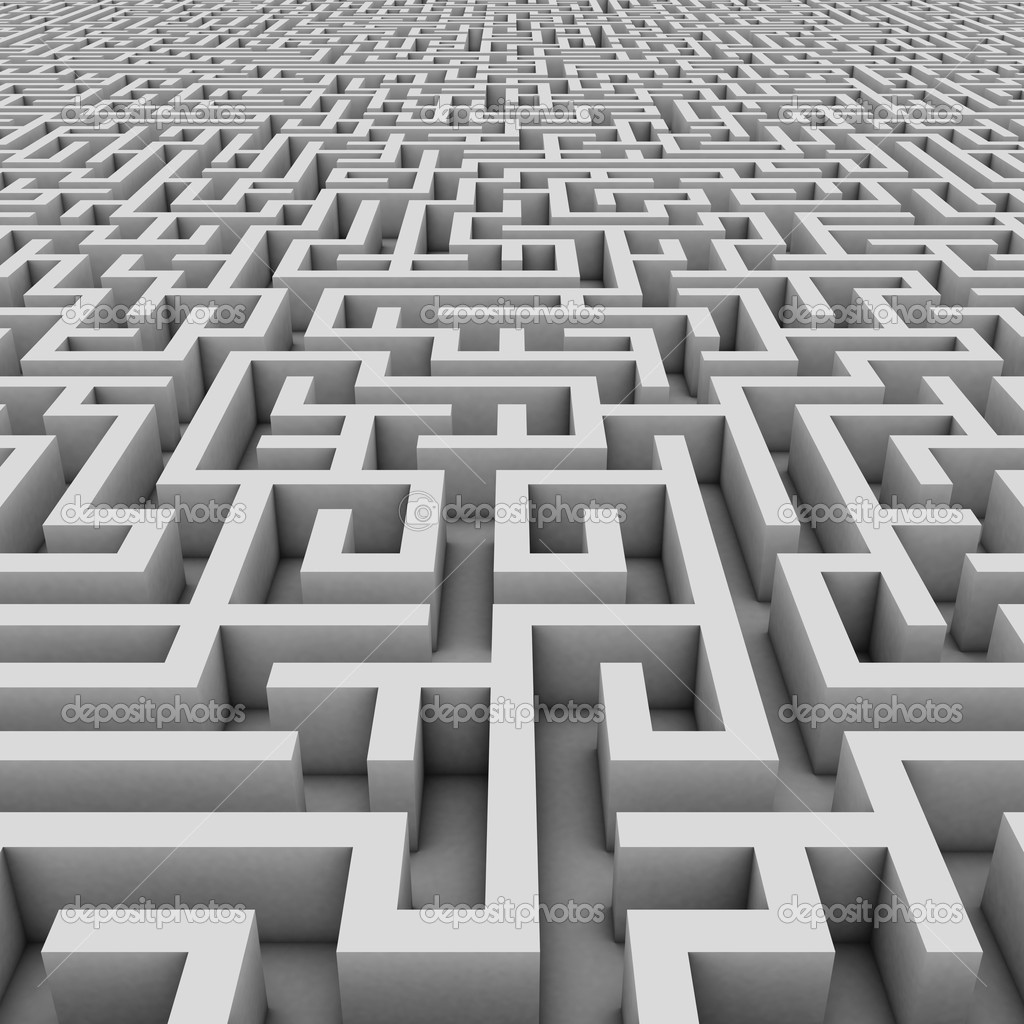 Stock Photo Endless Maze on File Maze Type Standard