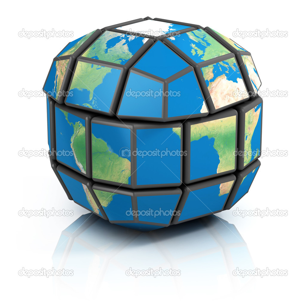 Global politics, globalization, 3d concept
