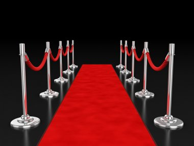 Red carpet over dark background