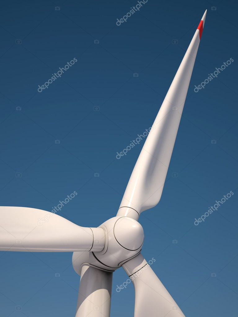 Wind power station against the blue sky - Power generation wind turbines
