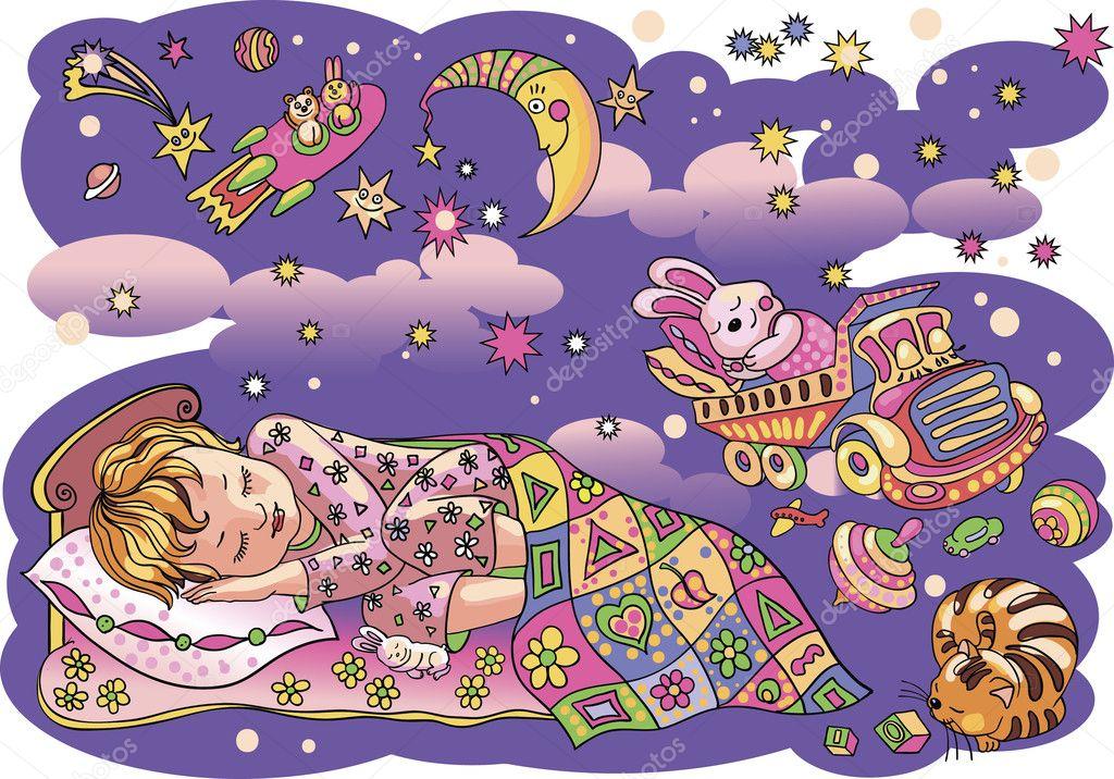 Прикольные мультяшные картинки дети спят, дню