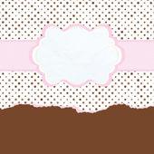 hnědé a růžové vintage kartu šablona. EPS 8