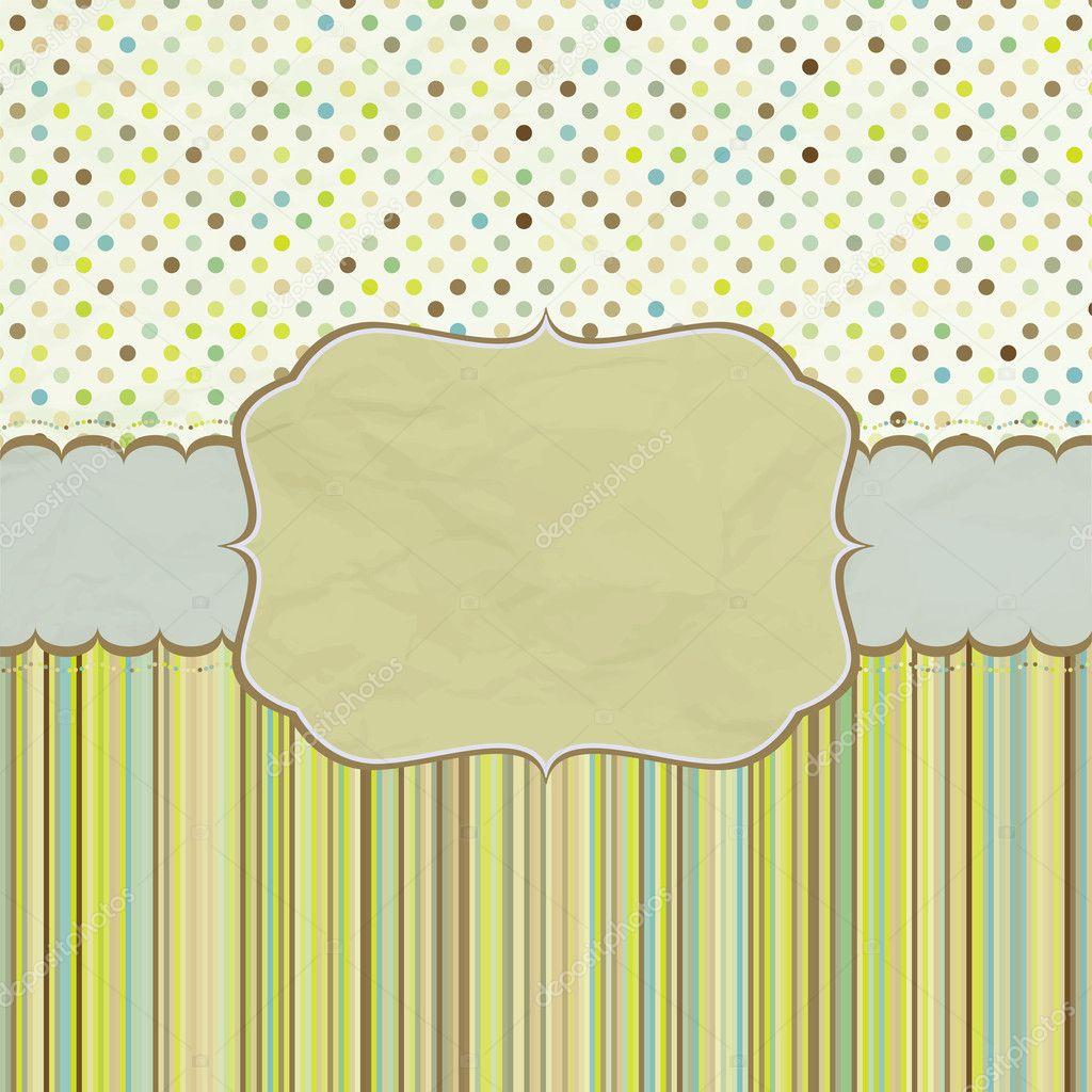 diseño de marco de plantillas para tarjetas de felicitación. EPS 8 ...