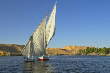 Typical sailing on the Nile