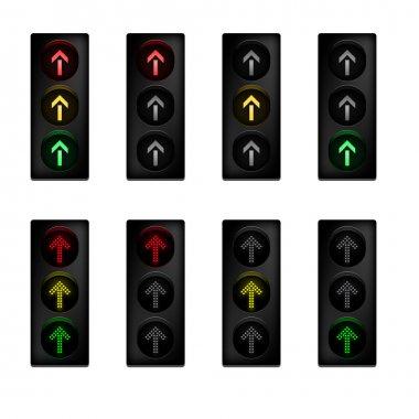 Traffic light set with arrow