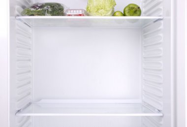 Half-empty fridge