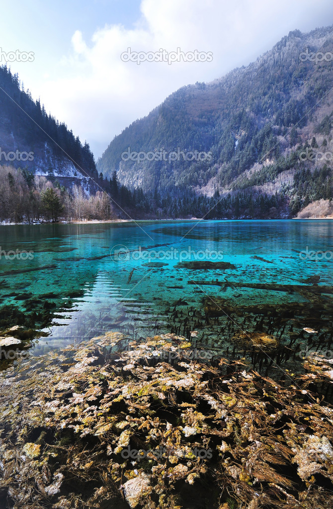 Idyllic Blue Lake, Jiuzhaigou National Park, China