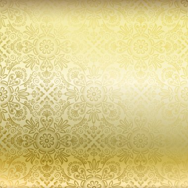Seamless golden damask wallpaper
