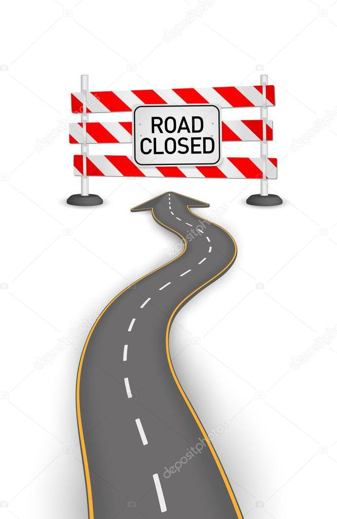 Road closed vector illustration