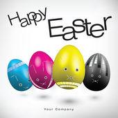 illustrazione di uova di Pasqua in colori cmyk