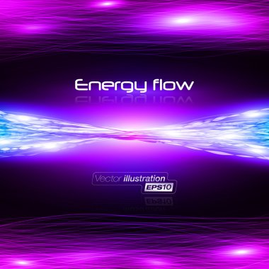 Energy flow 2 Vector illustration