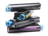 čtyři barevná laserová tiskárna tonerové kazety