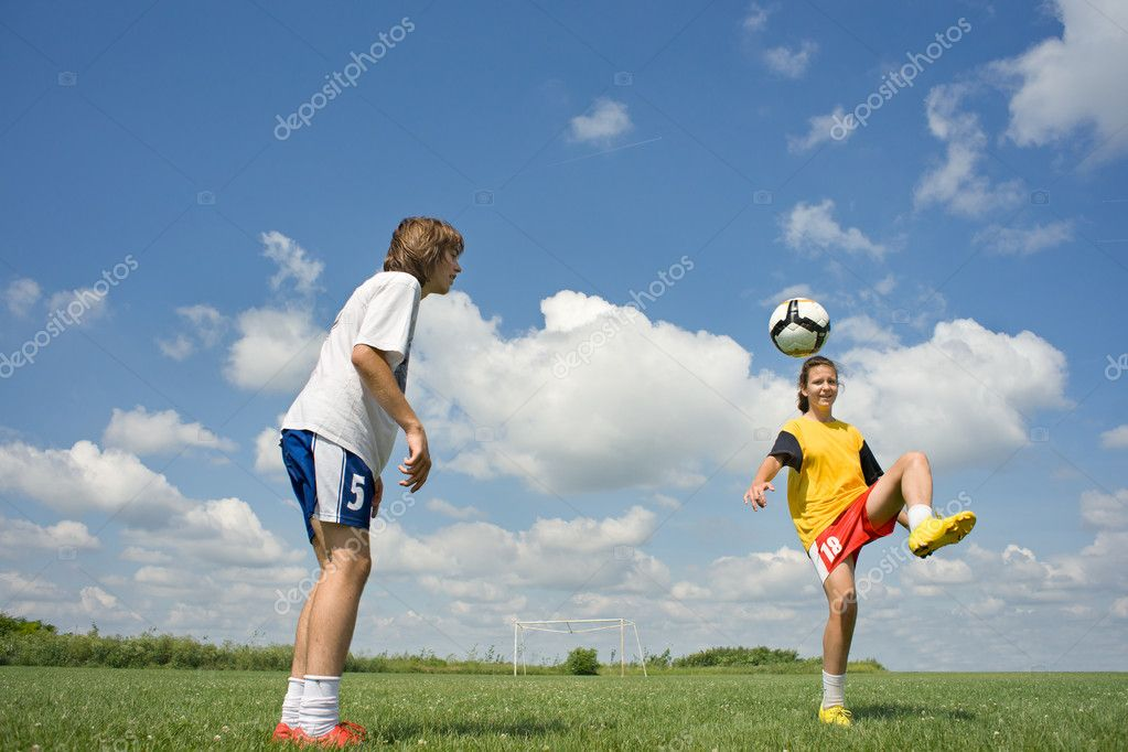 Teenager soccer