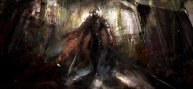 Knight in temple