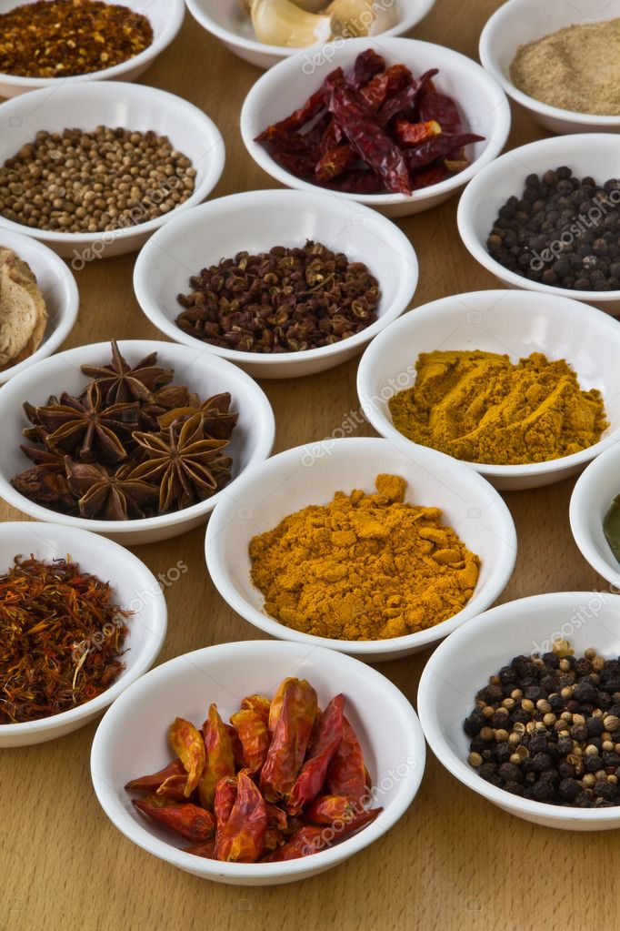 Collection of spices.