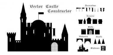 Medieval castle construction set