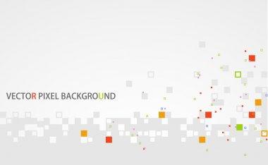 Gray pixel background
