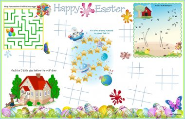 Placemat Easter Printable Activity Sheet 7