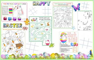 Placemat Easter Printable Activity Sheet 2
