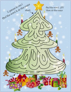 Christmas tree maze puzzle 1