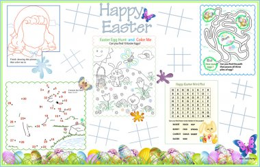 Placemat Easter Printable Activity Sheet 3