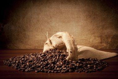 Coffe'beans with juta bag