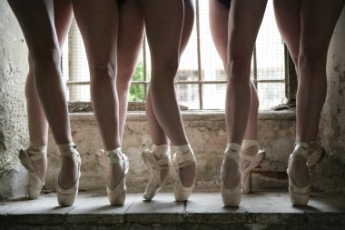 Dancers legs shooted in an abandoned location location