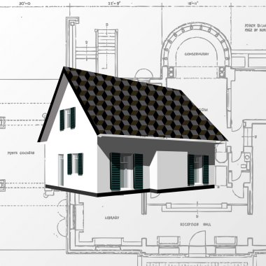 Architectural background (vector).