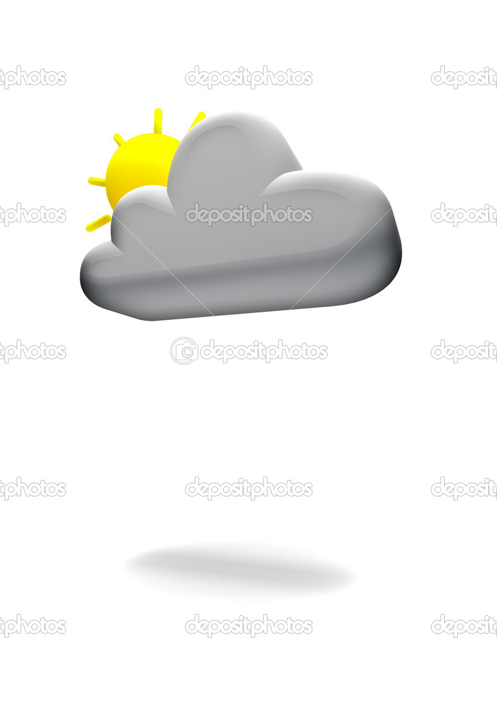 Cg Weather Symbol Partly Cloudy Stock Photo Grandeduc 9889236