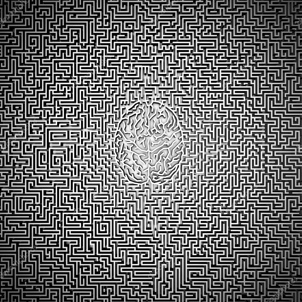 ultimative Gehirn Labyrinth — Stockfoto © grandeduc #9925495