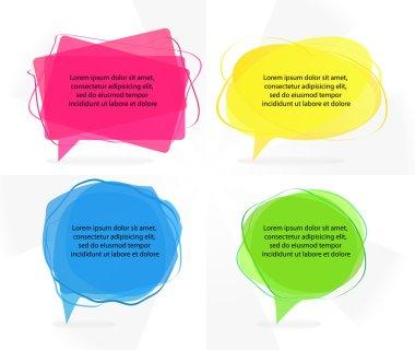 Transparent colorful speech bubbles