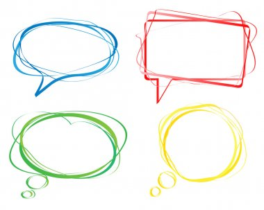 Colorful speech bubbles, vector