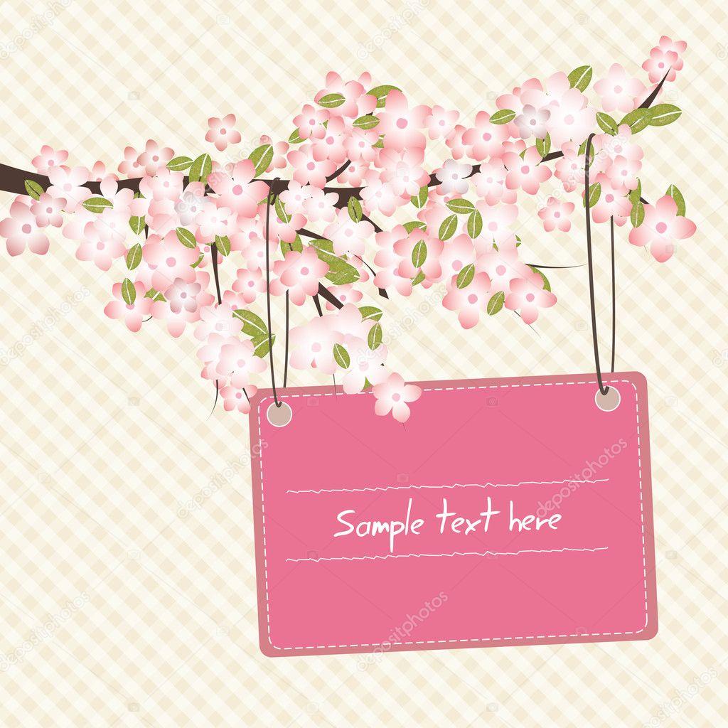 Spring romantic card