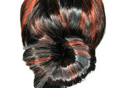 Zvýraznění pozadí textury chomáč vlasů