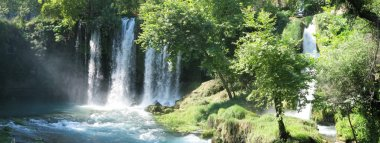 Waterfall duden out of grotto antalya turkey