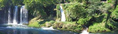 Panorama of waterfall duden turkey