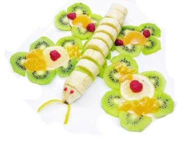Creative fruit dessert