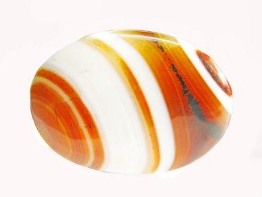 Round carlelian crystal
