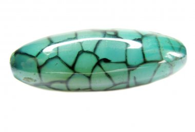Round green agate crystal