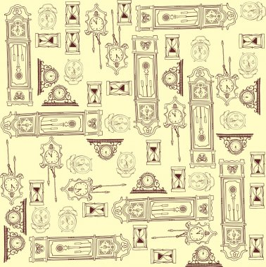 Clock pattern in brown