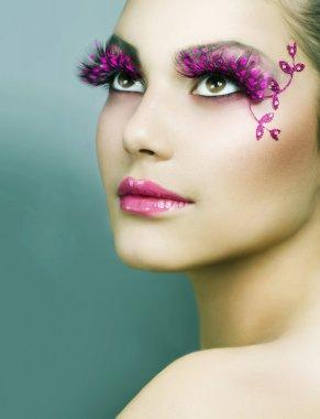 Beautiful Creative Fashion Makeup. Holiday Make-up
