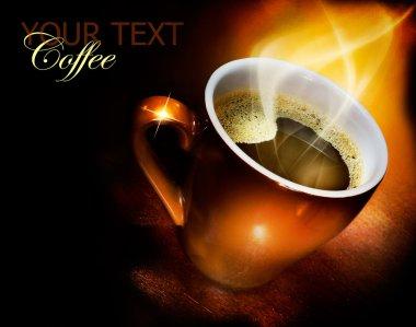 Coffee Over Black