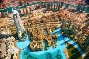 DUBAI, UAE. - NOVEMBER 29 : Dubai,the top view on Dubai from the