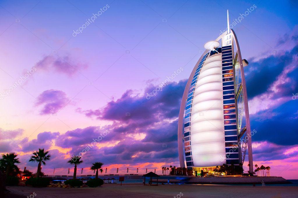 DUBAI, UAE - NOVEMBER 27: Burj Al Arab hotel on Nov 27, 2011 in
