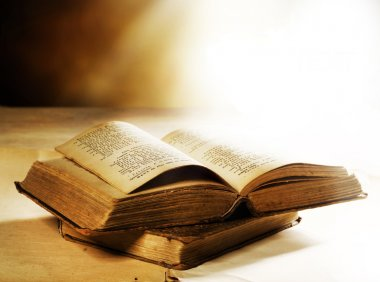 Old Books closeup