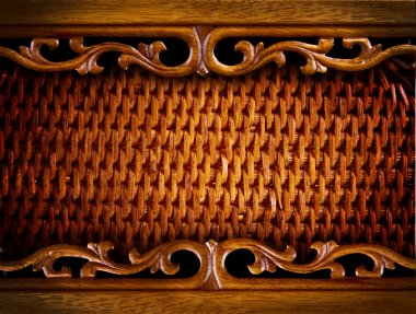Rattan Furniture Detail.Abstract Background