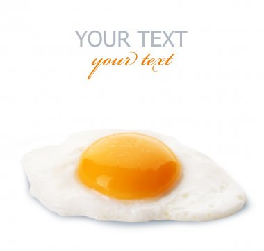 Fried Eggs Isolated On White